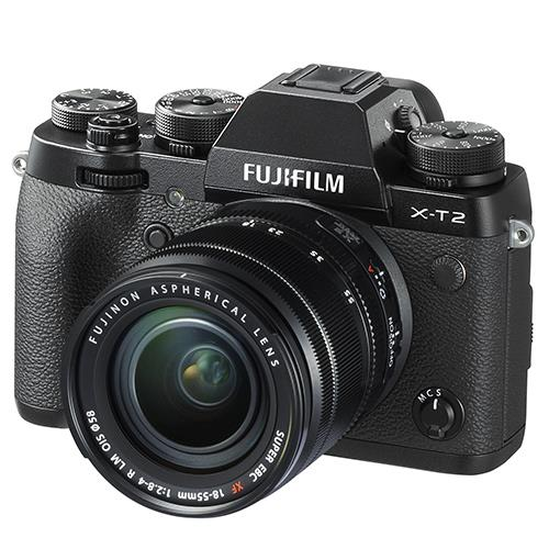 Fujifilm X-T2 Mirrorless Camera in Black with XF18-55mm Lens
