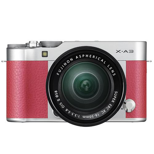 Fujifilm X-A3 Mirrorless Camera In Pink + XC16-50mm Lens