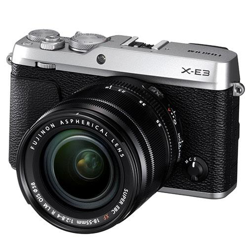 Fujifilm X-E3 Mirrorless Camera in Silver with XF18-55mm f/2.8-4.0 Lens