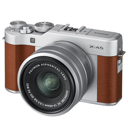 Fujifilm X-A5 Mirrorless Camera In Brown with XC15-45mm Lens