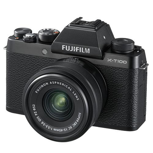 Fujifilm X-T100 Mirrorless Camera in Black + XC15-45mm lens