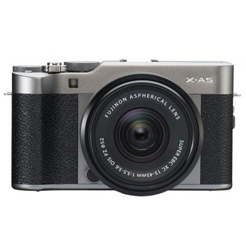 Fujifilm X-A5 Mirrorless Camera In Dark Silver with XC15-45mm Lens