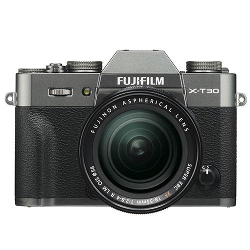 Fujifilm X-T30 Mirrorless Camera in Charcoal with XF18-55mm Lens