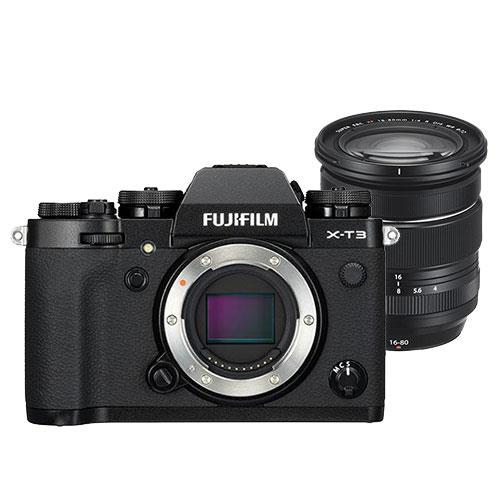 Fujifilm X-T3 Mirrorless Camera Body in Black with XF16-80mm F4 R OIS WR Lens