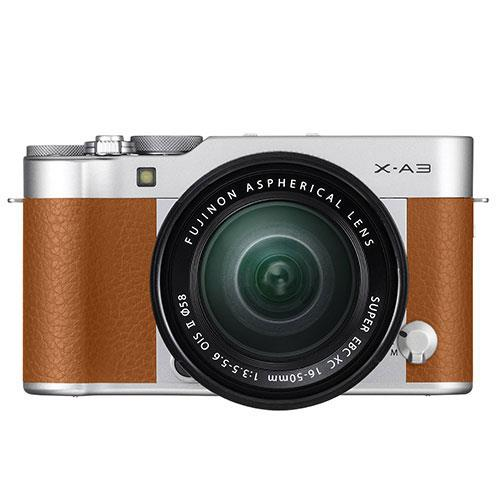 Fujifilm X-A3 Mirrorless Camera In Camel Brown with XC16-50mm Lens - Ex Display