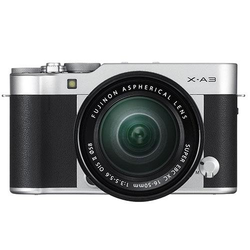 Fujifilm X-A3 Mirrorless Camera In Black and Silver with XC16-50mm Lens - Ex Display