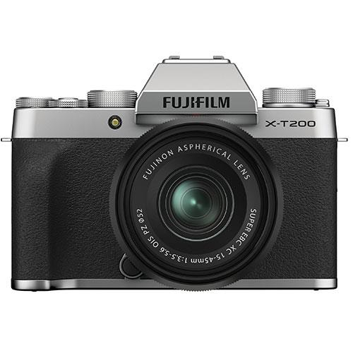 Fujifilm X-T200 Mirrorless Camera in Silver with XC15-45mm Lens