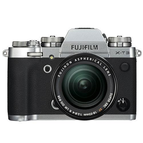 Fujifilm X-T3 Mirrorless Camera in Silver with XF18-55mm Lens - Ex Display