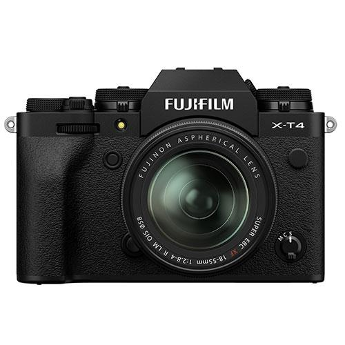 Fujifilm X-T4 Mirrorless Camera in Black with XF18-55mm Lens