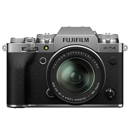 Fujifilm X-T4 Mirrorless Camera in Silver with XF18-55mm Lens
