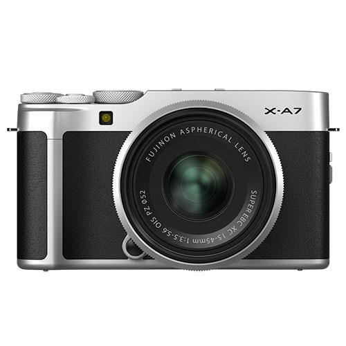 Fujifilm X-A7 Mirrorless Camera in Silver with XC15-45mm Lens - Ex Display