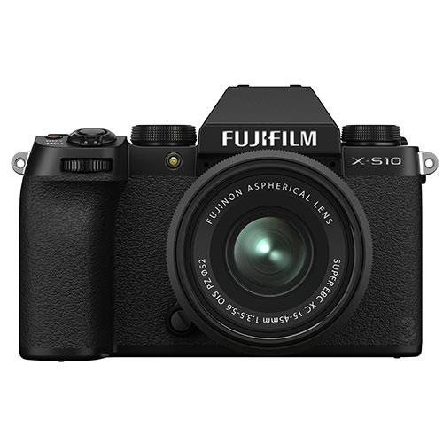 Fujifilm X-S10 Mirrorless Camera in Black with XC15-45mm Lens
