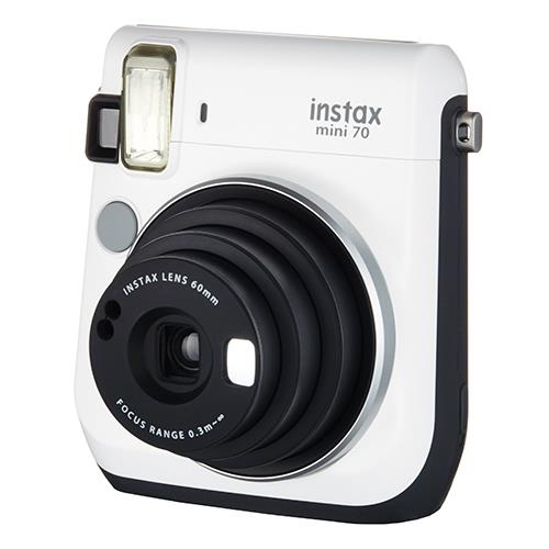Instax mini 70 Instant Camera in White with 10 Shots