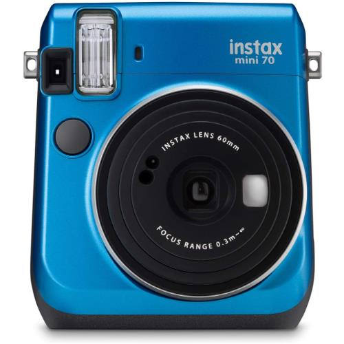 instax mini 70 Instant Camera in Blue with 10 Shots - Ex Display