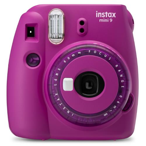 Instax Mini 9 Instant Camera in Clear Purple with 10 Shots