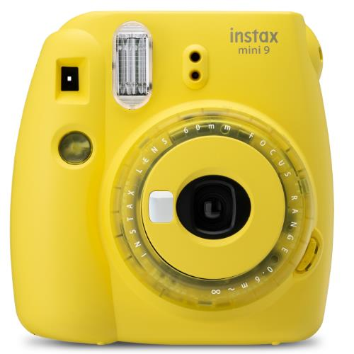 Instax Mini 9 Instant Camera in Clear Yellow with 10 Shots