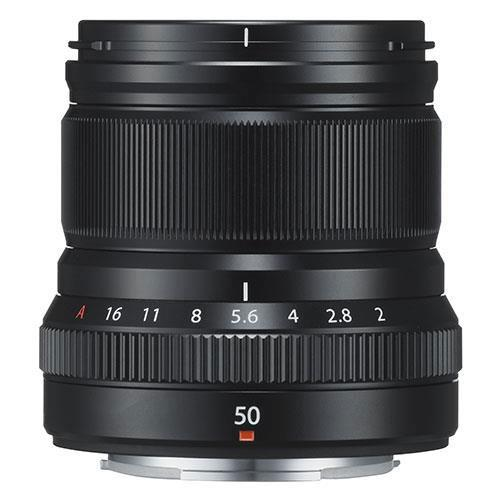 Fujifilm XF50mm f/2.0 R WR Lens in Black - Ex Display