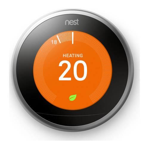 Google Nest Learning Thermostat in Stainless Steel