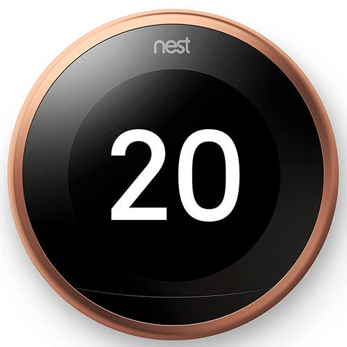 Google Nest Learning Thermostat in Copper