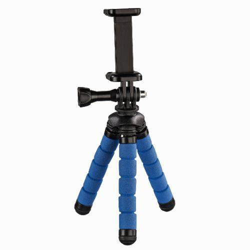 Hama Flex Mini-Tripod for Smartphone and GoPro, 14cm, Blue
