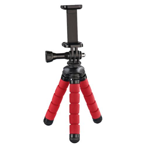 Hama Flex Mini-Tripod for Smartphone and GoPro 14cm Red