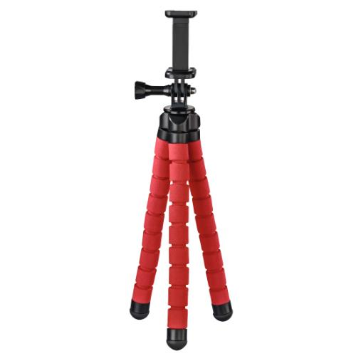 Hama Flex Tripod for Smartphone and GoPro, 26cm, Red