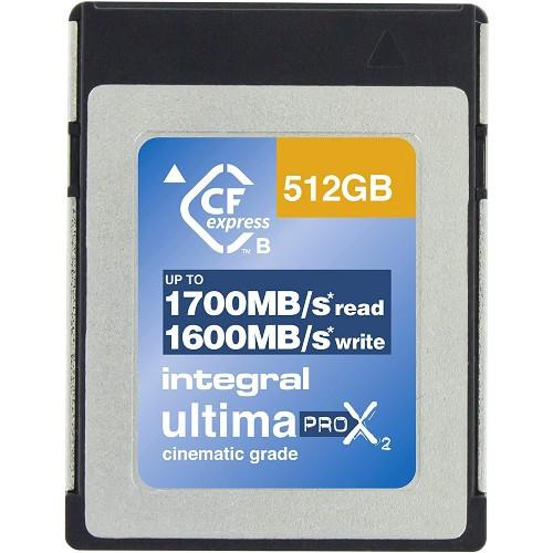 Integral UltimaPro X2 CFexpress Cinematic 512GB 1700MB/s Memory Card