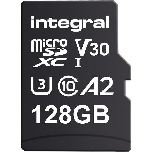 Integral Professional High Speed microSD 128GB 180MB/s V30 UHS-I U3 Memory Card