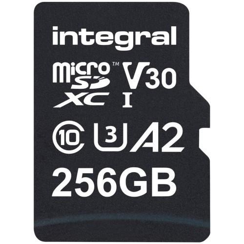 Integral Professional High Speed microSD 256GB 180MB/s V30 UHS-I U3 Memory Card