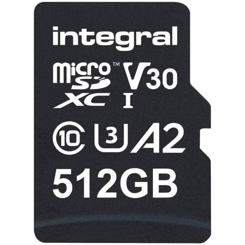Integral Professional High Speed microSD 512GB 180MB/s V30 UHS-I U3 Memory Card