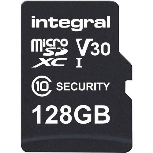 Integral Security microSD 128GB 100MB/s V10 UHS-1 U3 Memory Card