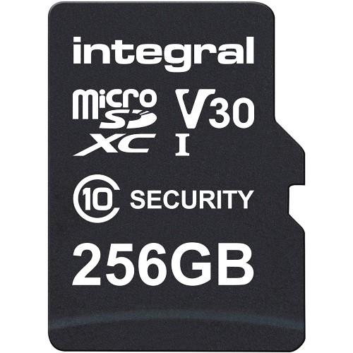 Integral Security microSD 256GB 100MB/s V10 UHS-1 U3 Memory Card