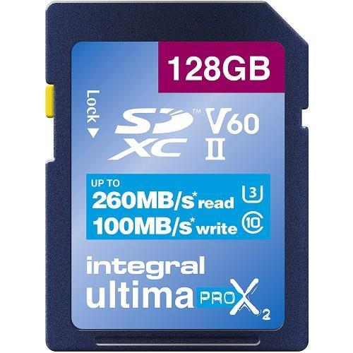 Integral UltimaPro X2 SDXC 128GB 260MB/s V60 UHS-II Memory Card