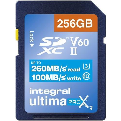 Integral UltimaPro X2 SDXC 256GB 260MB/s V60 UHS-II Memory Card