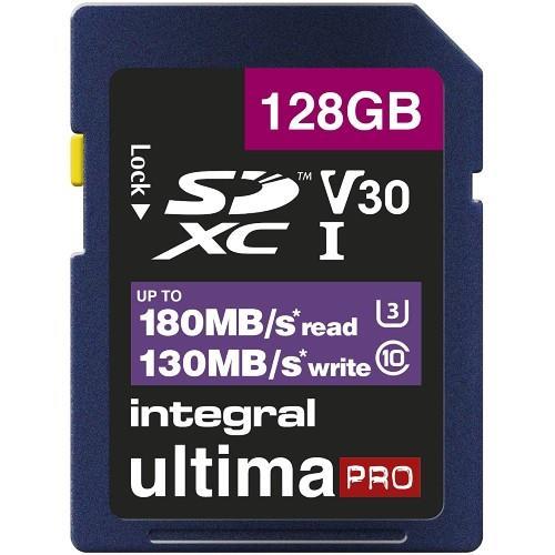 Integral Professional SDXC 128GB 180MB/s V30 UHS-I Memory Card