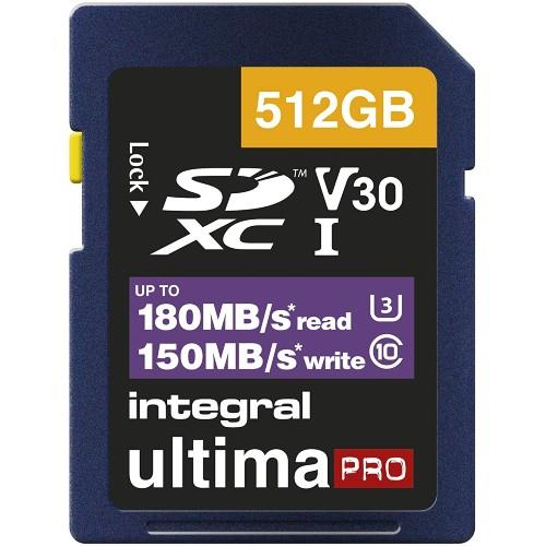 Integral Professional SDXC 512GB 180MB/s V30 UHS-I Memory Card