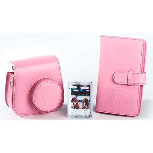Instax Mini 9 Instant Camera Accessory Kit in Flamingo Pink