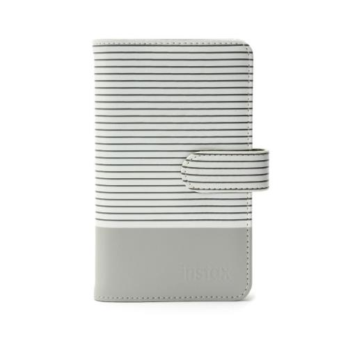 Instax Mini 9 Striped Photo Album in Smokey White