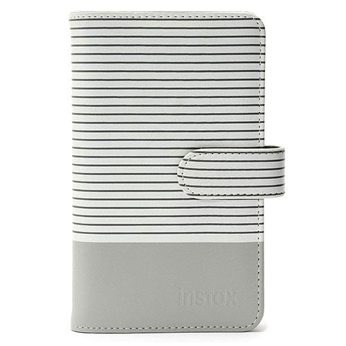 instax Mini 9 Striped Photo Album in Smokey White - Ex Display