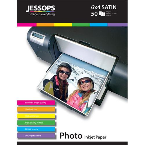 Jessops Inkjet 6x4 Satin Photo Paper 240gsm - 50 Sheets