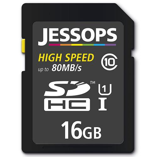 Jessops SDHC 16GB 80MB/s UHS-I Memory Card