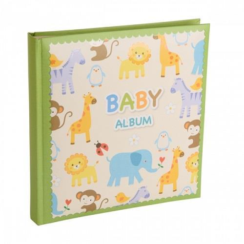 Kenro Baby Zoo Photo Album and Keepsake Box - Green