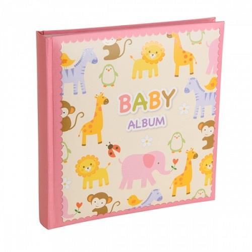 Kenro Baby Zoo Photo Album and Keepsake Box - Pink
