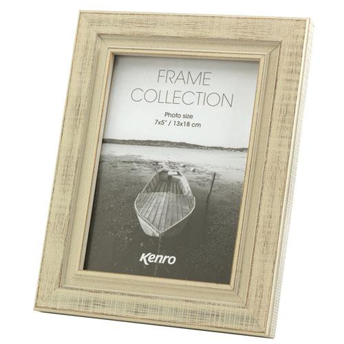Kenro Emilia Distressed Photo Frame 8x6 (15x20cm) White