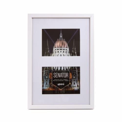 Kenro Senator White Frame 12x18 with mat for 2 photos 8x6 / 15x20cm