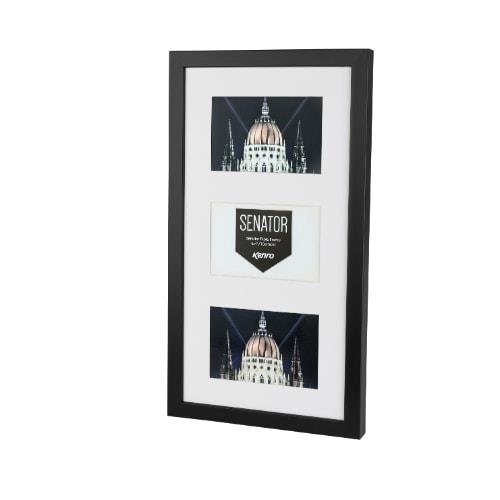 Kenro Senator Black Frame with mat for 3 photo 7x5 /13x18cm