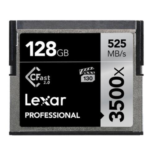 Lexar 3500x Professional CFlash 2.0 128GB 525MB/s Memory Card