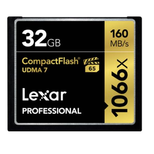 Lexar Professional 1066x Compact Flash 32GB Memory Card