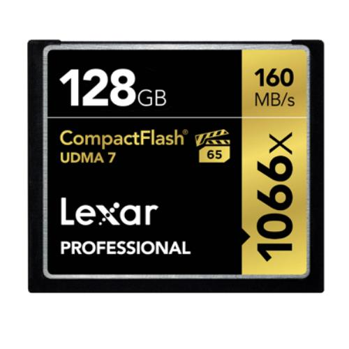 Lexar Professional 1066x Compact Flash 128GB Memory Card