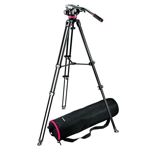 Manfrotto MVT502AM Aluminium Twin Leg Tripod with 502 Fluid Video Head